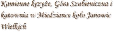 Kamienne krzyże, Góra Szubieniczna i katownia w Miedziance koło Janowic Wielkich